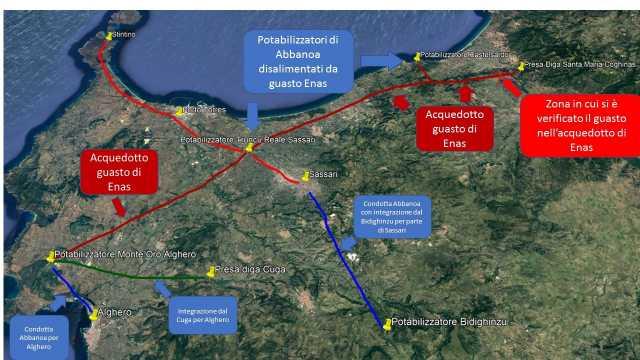 Centomilasenz'acqua da giorni nel nord Sardegna: