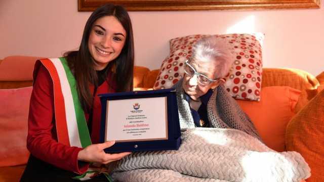 Oristano festeggia la nuova centenaria: è Iolanda Baldino