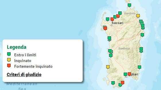 Cartina Sardegna 2017.Youtg Net Da Quartu A Valledoria Passando Da Pula Ecco La Mappa Degli Scarichi Inquinanti