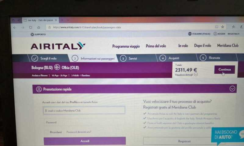 Air Italy, no ai voli su Olbia