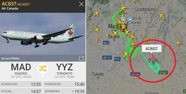 Atterraggio d'emergenza per un Boeing 767 a Madrid