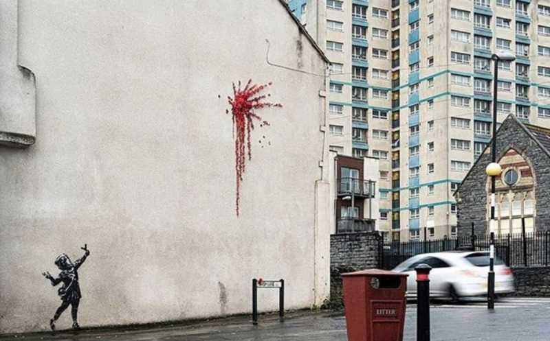 Banksy, sarà suo il misterioso murale comparso a Bristol?