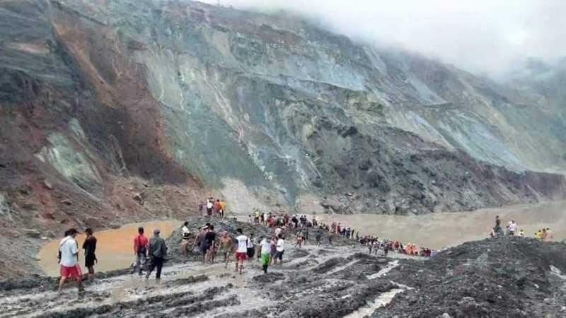 La frana della miniera di giada del Myanmar lascia decine di morti